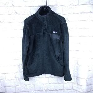 Patagonia xl black snap t pullover sweater fleece